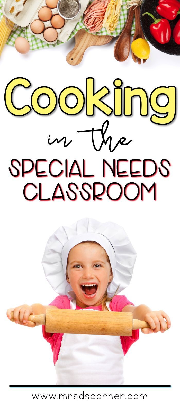 "Cooking in the Classroom with Mrs. D's Corner. Video post with a sneak peak at my classroom ""kitchen"", how I make it work, how and when we cook in the classroom, and other food related fun stuff your students are sure to love too! Only at Mrs. D's Corner."