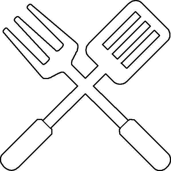 bbq utensil coloring page utensils applique letters and