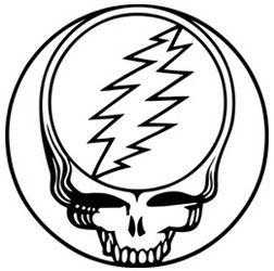 Grateful Dead Steal Your Face Outline Grateful Dead Grateful Dead Albums Grateful Dead Music