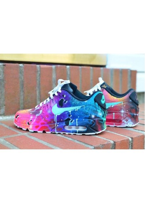 Nike Air Max 90 Candy Drip Lightning Purple Blue Pink Trainers The style of  shoes is