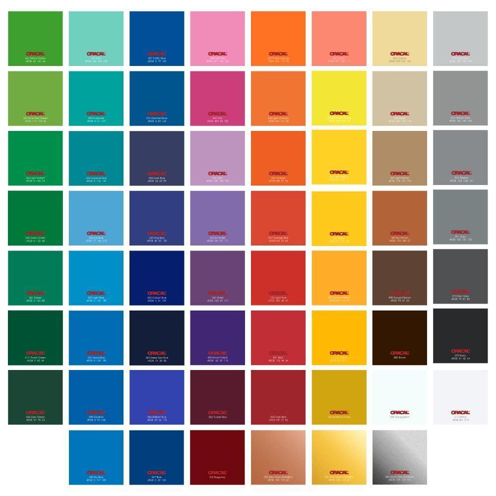 Oracal 651 Glossy 12 X 6 Ft Vinyl Rolls 61 Colors Vinyl Rolls Swing Design Vinyl Sheets