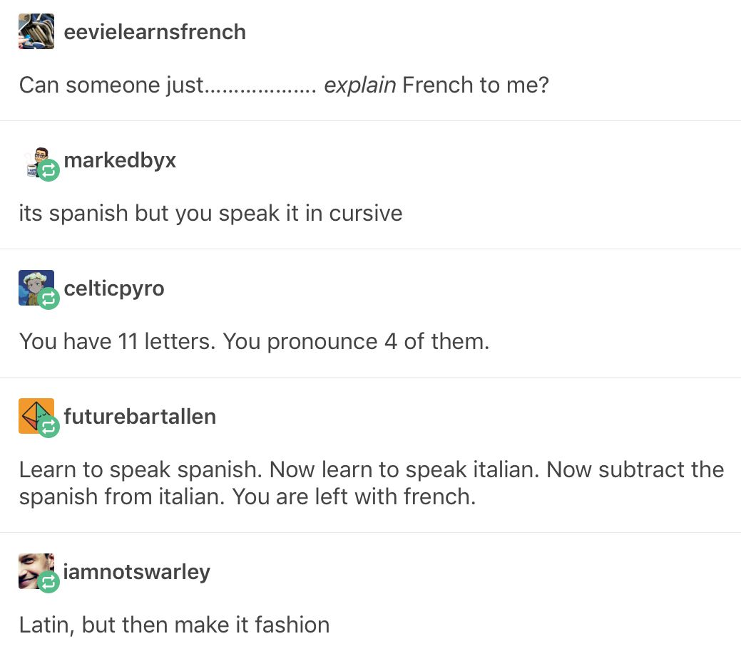 Ths French Language Explained Funny Me Tumblr Funny Humor