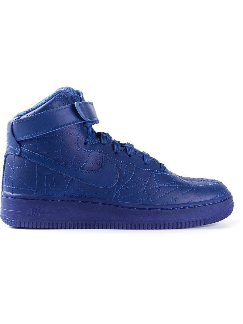 Nike 'Air Force 1' Sneakers Blaue 'Air Force 1' Sneakers aus