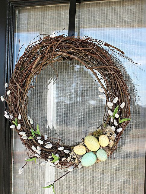 Grapevine Easter Wreath, So simple to make...