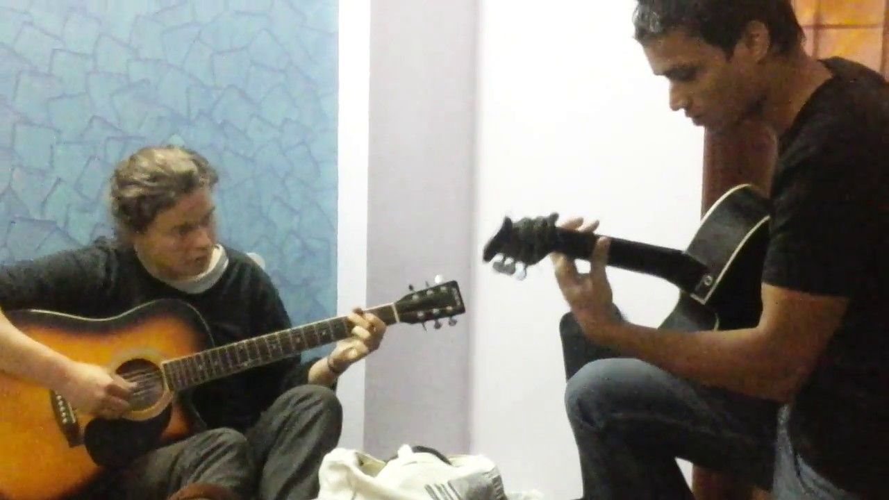 The Great Jugalbandi on #Guitar between an #Indian and #Australian Guy