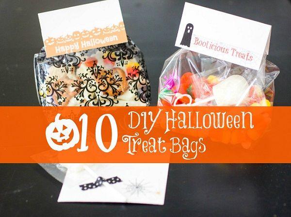 10 DIY Halloween Treat Bags | Diy halloween treat bags, Diy ...