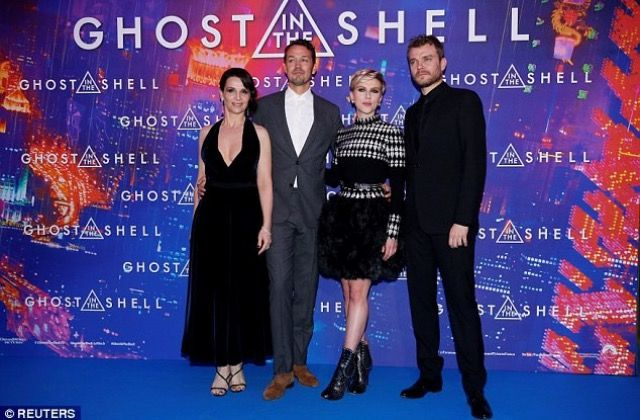 Scarlett Johansson, Juliette Binoche, Pilou Asbaek and Rupert Sanders attended the Ghost In The Shell premiere in Paris 3/21/2017