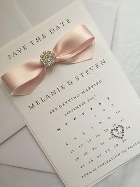 Personalised Calendar Save The Date Handmade Wedding Stationery Wedding Invite Handmade Wedding Stationery Handmade Wedding Wedding Invitation Cards Handmade
