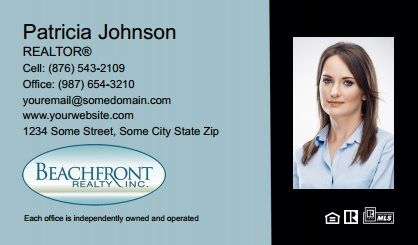 Beachfront Realty Business Cards Bri Bc 017 With Photo