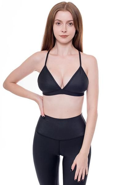 169a4e438f1 PUBLIC MYTH ACTIVE WEAR- Supremacy Sports Bra This stunning triangle bra  features ruched detailing woven