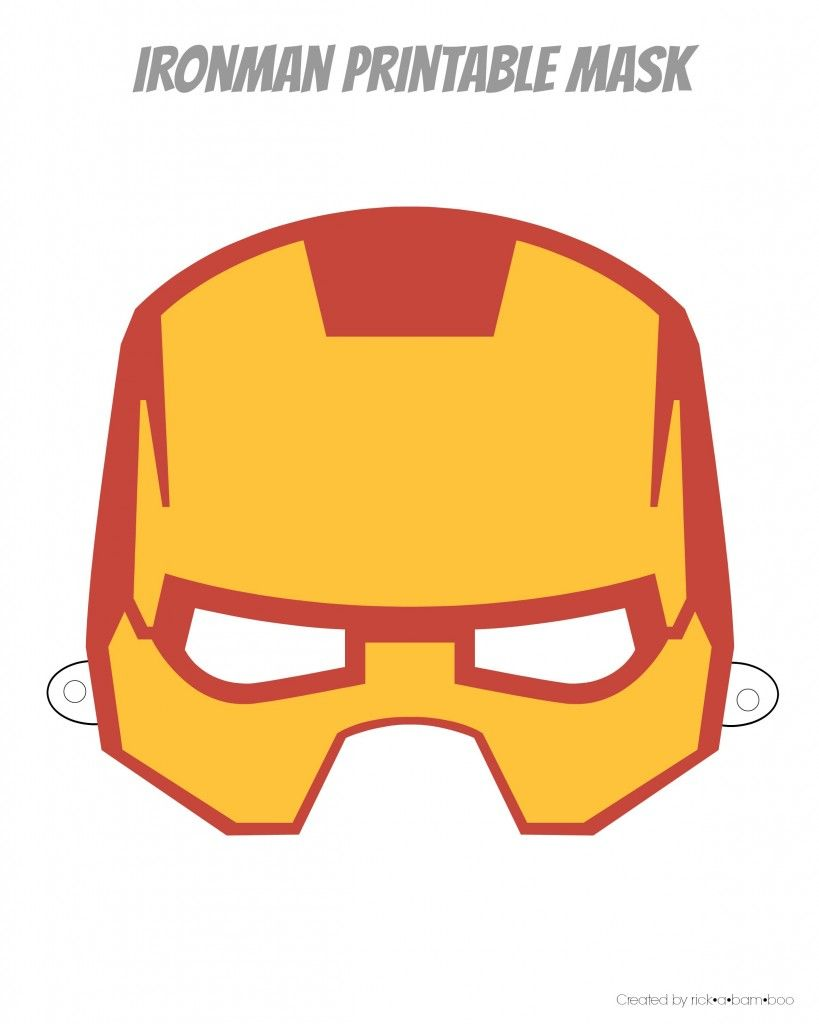 Free Printable Hero Masks Iron Man Birthday Pinterest