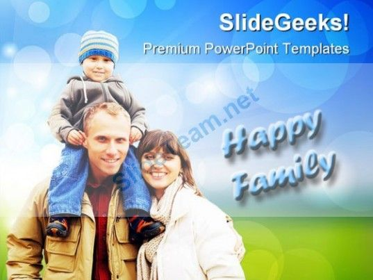 Happy Family People PowerPoint Templates And PowerPoint