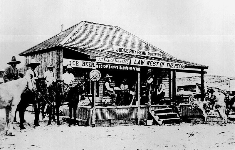 Judge Roy Bean - Langtry, TX The Law west of the Pecos Cowboys - judicial council form complaint