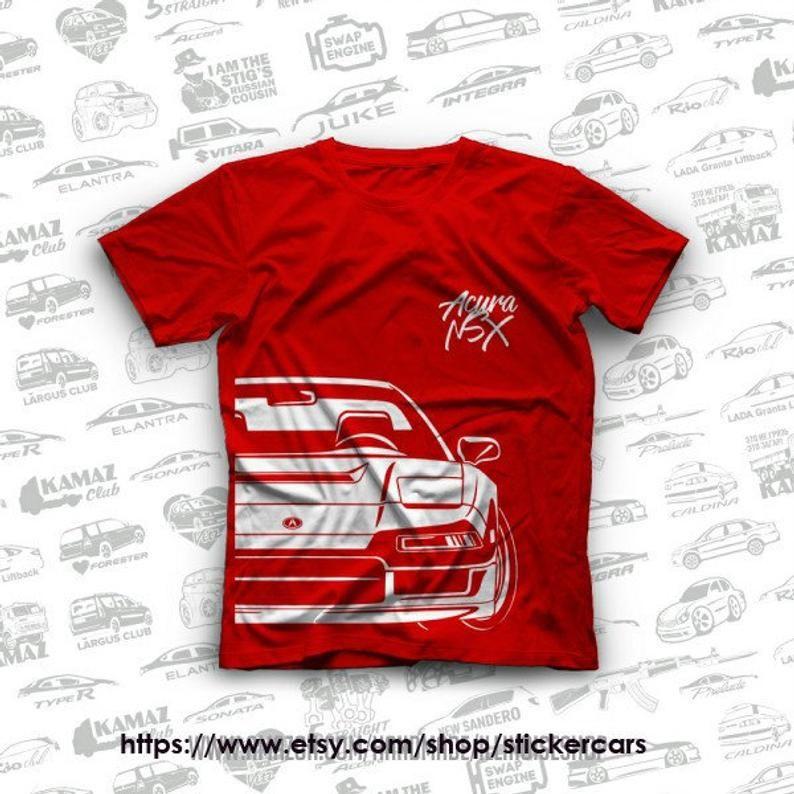 Honda NSX Acura NSX Original T-Shirts 100% Cotton Free
