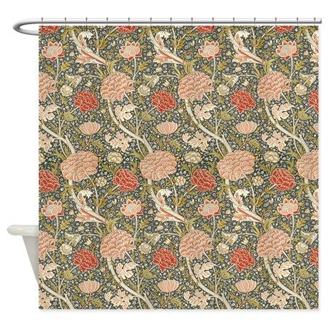 William Morris Cray Pattern Shower Curtain On Cafepress Com