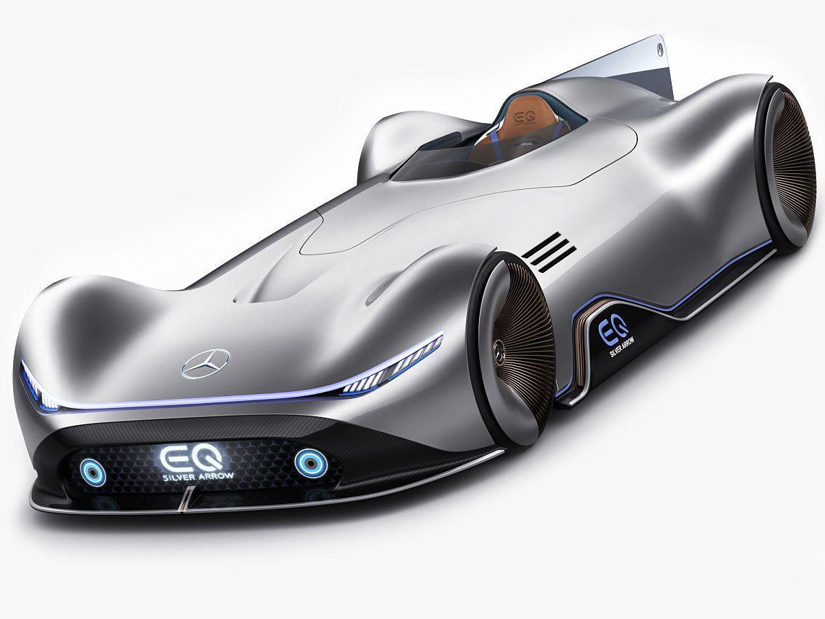 Mercedes Benz Vision Eq Silver Arrow Concept 2018 3d Model Super Cars Ford Gt 2017 Honda Nsx R
