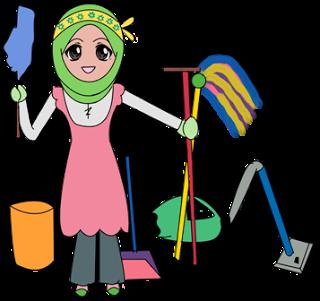 Teknolut Cara Cepat Bersih Bersih Rumah Pembersih Rumah Pembersihan Kartun