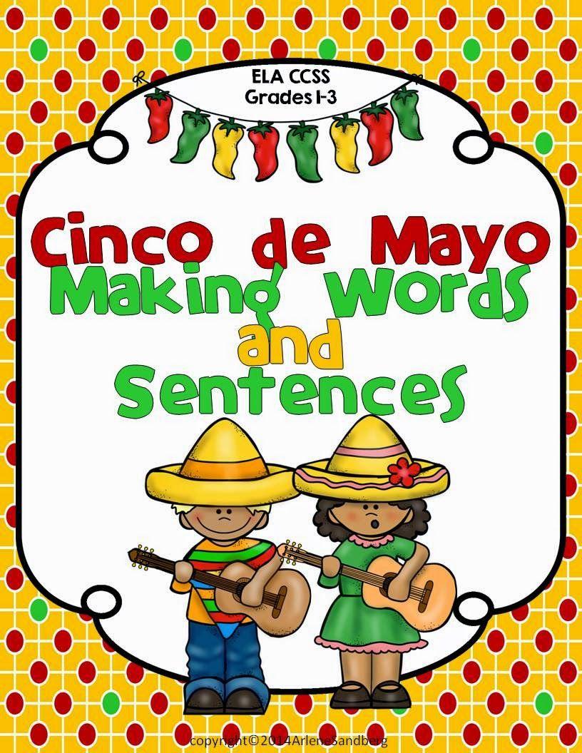 Cinco de Mayo: Making Words and Sentences - Classroom Freebies   Cinco de  mayo [ 1056 x 816 Pixel ]