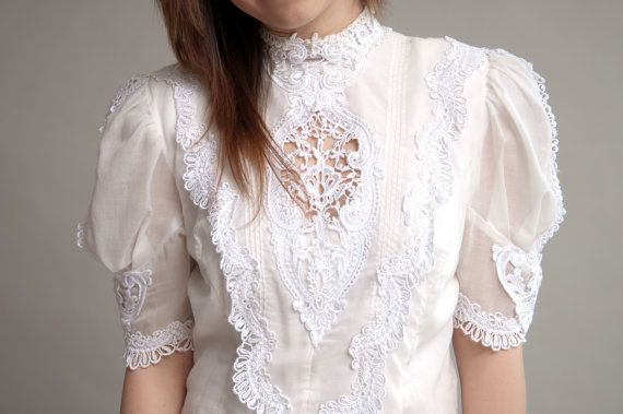 White Dress with Lace Embellishments
