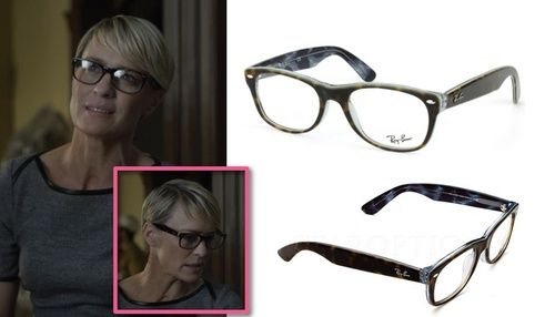 b30190aa7e HOUSE OF CARDS SEASON 2 FASHION  Claire Underwood s (Robin Wright) Ray-Ban  New Wayfarer optical eye glasses
