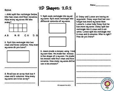 graphic regarding 2nd Grade Assessment Test Printable called Geometry Exams 2nd Quality Geometry Geometry try out