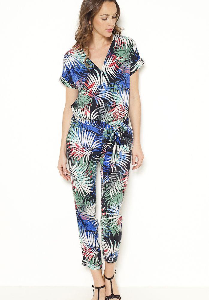 Combinaison pantalon imprimé tropical Camaïeu 2017   BEST OF 2017 ... 4799de6a8d6