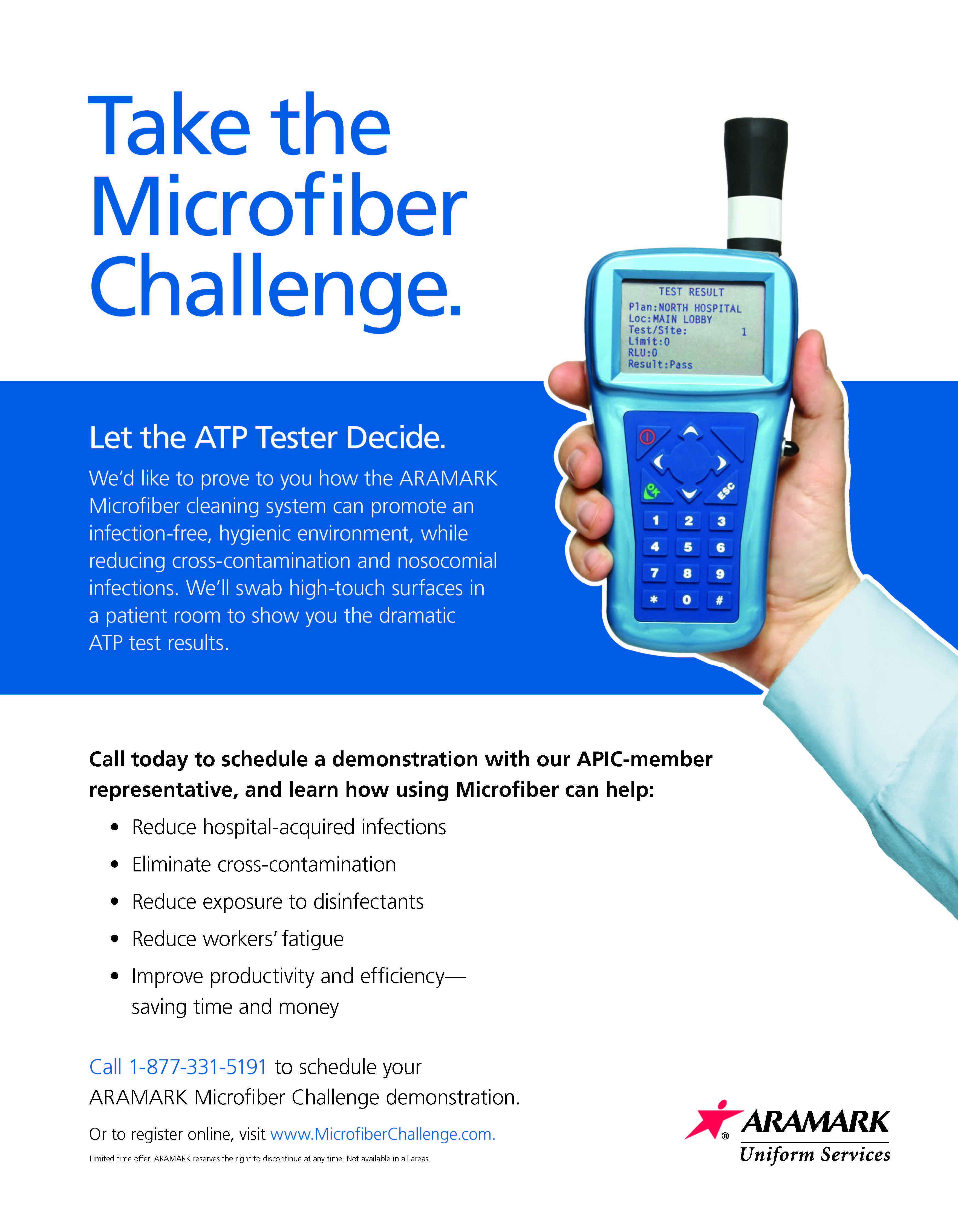 Aramark S Microfiber Cleaning System Can Promote An Infection Free Hygienic Environment While Reducing Cross C Clean Microfiber High Touch Infectious Disease