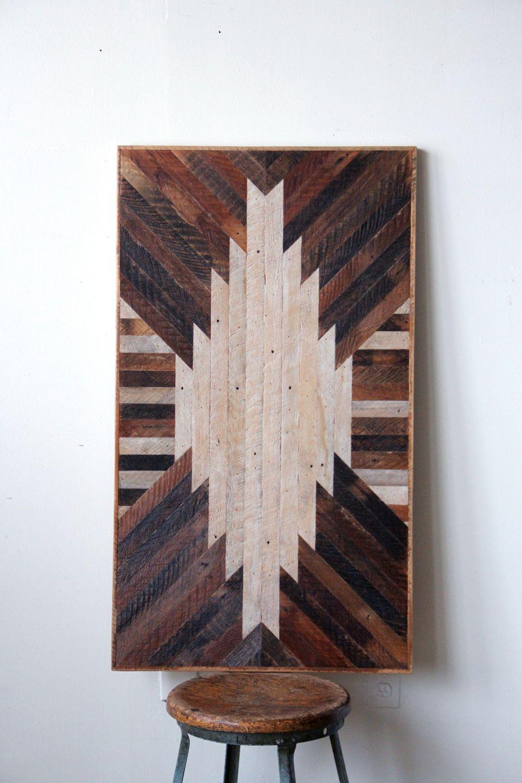 Wood walls lath table chevron