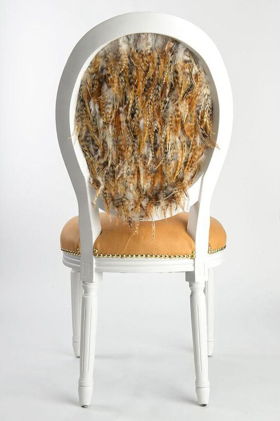 Anthropologie Style Dining Chairs Tufted French Louis XVI Side Accent Dining  Chair Upholstered In Cognac Leather