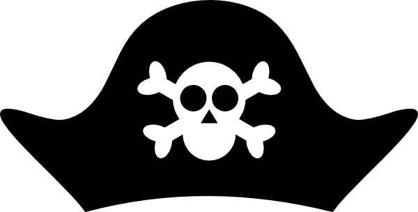 pirate hat template pirate hat clip art vector clip art online rh pinterest com Pirate Treasure Clip Art Cute Pirate Clip Art