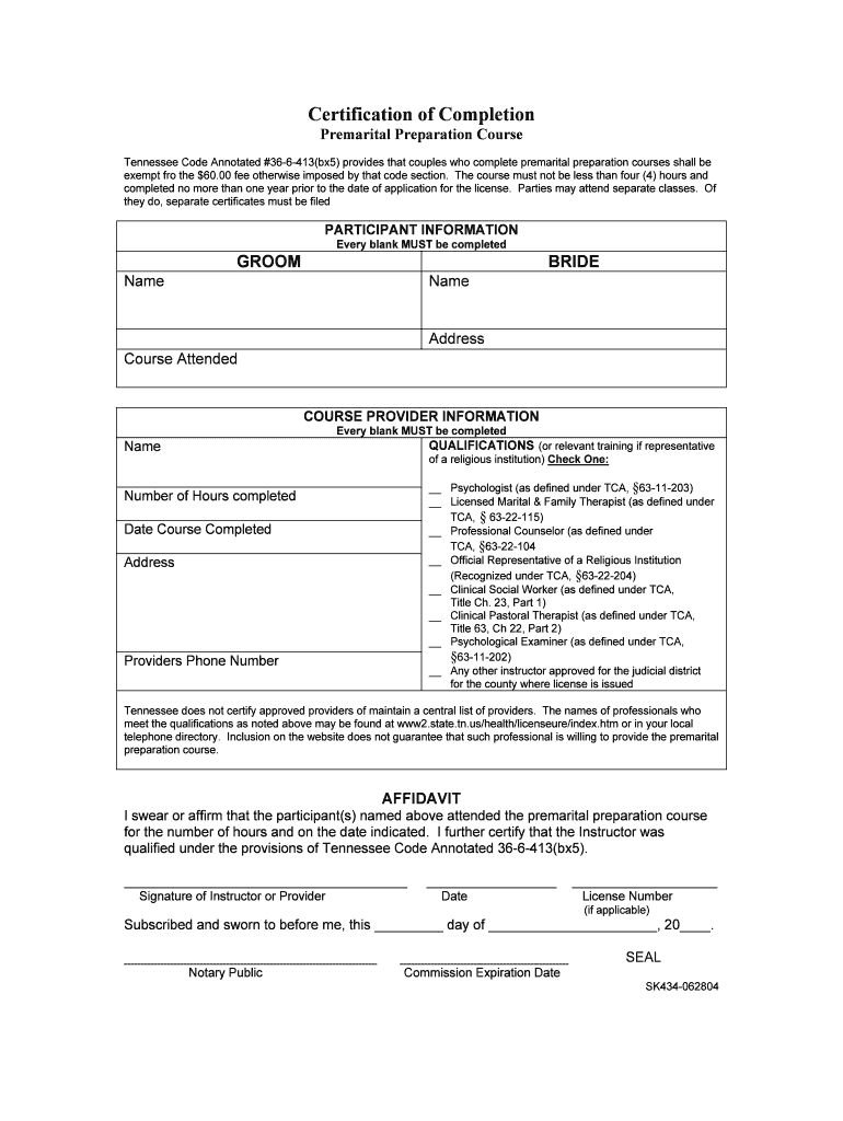 Pack Of 4 Marriage Counseling Completion Certificates Certificate Templates Certificate Of Completion Template Premarital Counseling