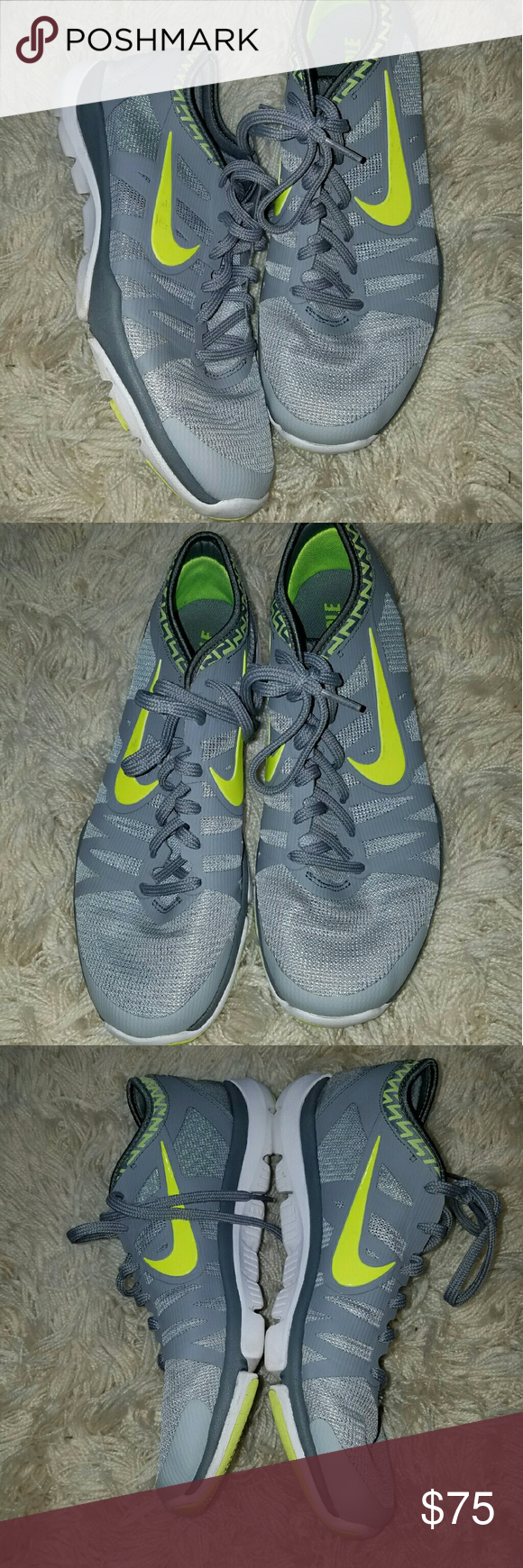 Nike Training Flex Supreme TR3 Running Tennis Shoe Nike Training Flex Supreme TR3 Running Tennis Shoes Gray Lime EUC 10  Shoes in excellent condition.   LB Nike Shoes Athletic Shoes
