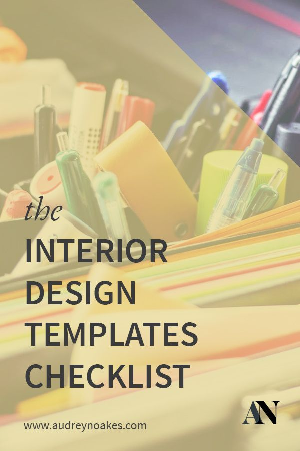 The Interior Design Templates Checklist - Audrey Noakes