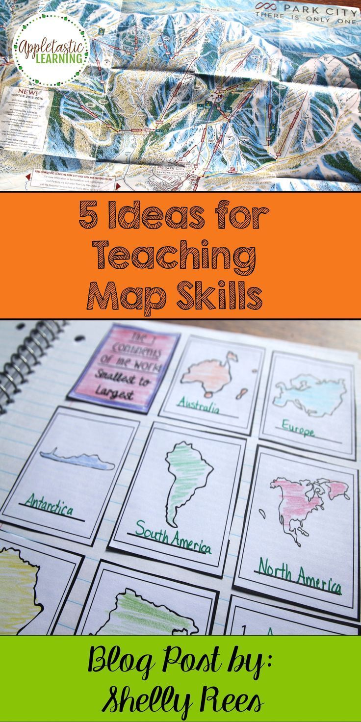 5 Ideas for Teaching Map Skills - Appletastic Learning   Teaching map  skills [ 1472 x 736 Pixel ]