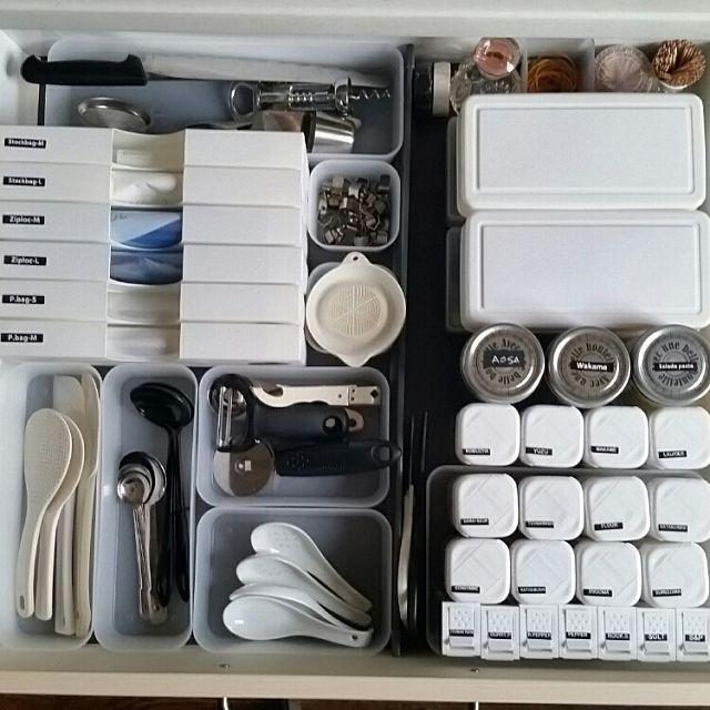 キッチン 100均 引き出し収納 引き出しの中 ダイソー セリアの