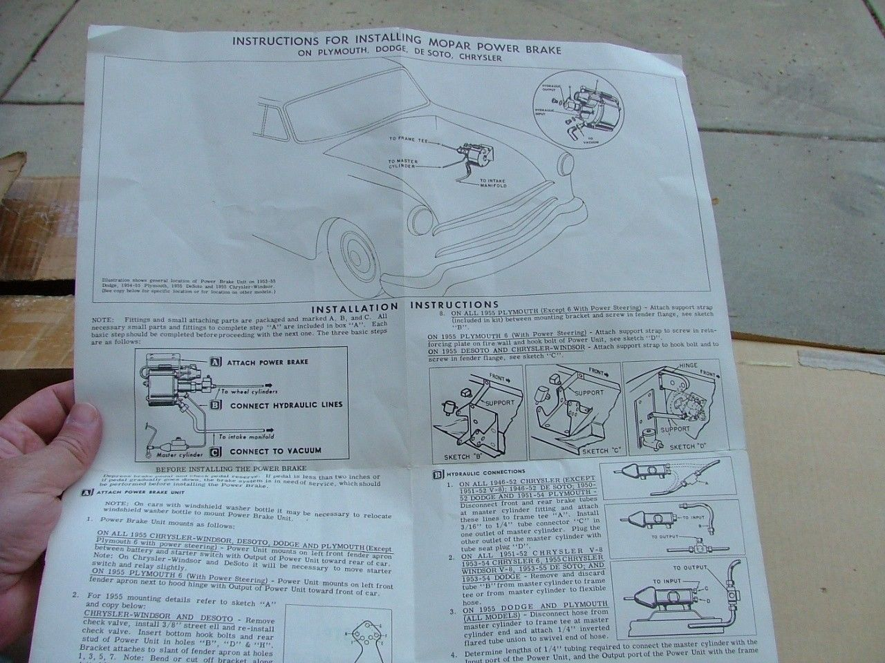 1946 55 mopar power brake conversion kit nos 1603252 chrysler dodge desoto ebay