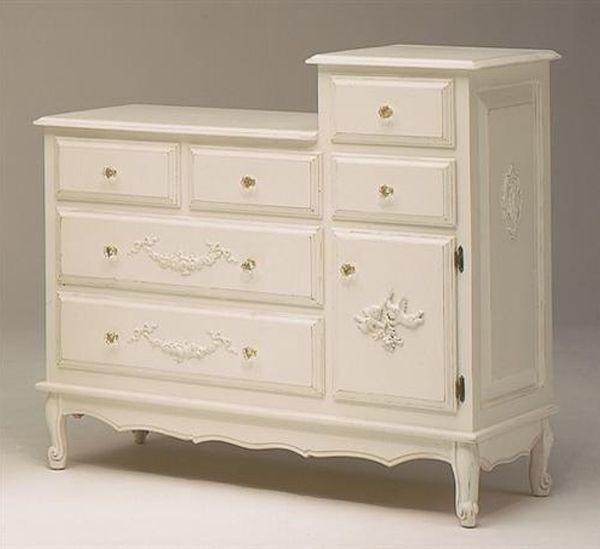 AFK Art for Kids Furniture French Changer Dresser in Antico White ...