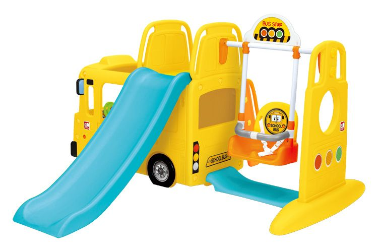 楽天市場 在庫有り Yaya バス スライド スイング スクールバス