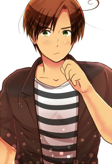9e6d5ffe9768e14edeeaffc9171ec712 smiles, blushes * yes, i will go out with you, romano * glomps