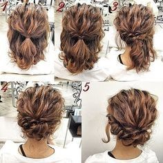 Sweet and simple | romantic and easy up do on naturally curly hair #easyupdo