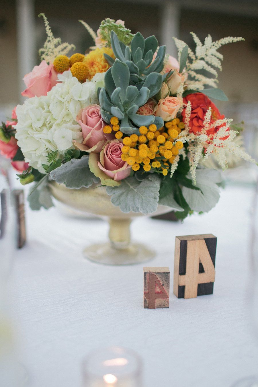 Rancho santa fe wedding from troy grover photographers floral feathery white and tiny yellow ball flowers lambs ear and succulent photography by http mightylinksfo