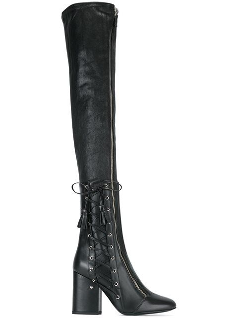 afd492c5fef Shop Laurence Dacade thigh-high boots in Satù from the world s best  independent boutiques at