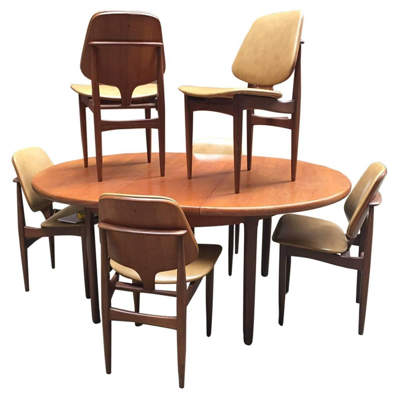 Modern English Elliots Of Newbury Teak Dining Table And Chairs Teak Dining Table Dining Dining Room Sets