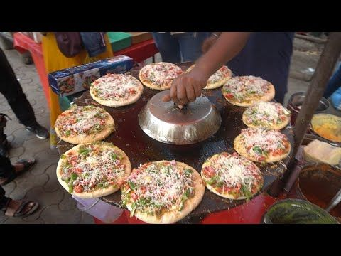 VEG CHEES PIZZA: Very Famous Spicy Veg Cheese Pizza of Mumbai | Indian Street Fo…