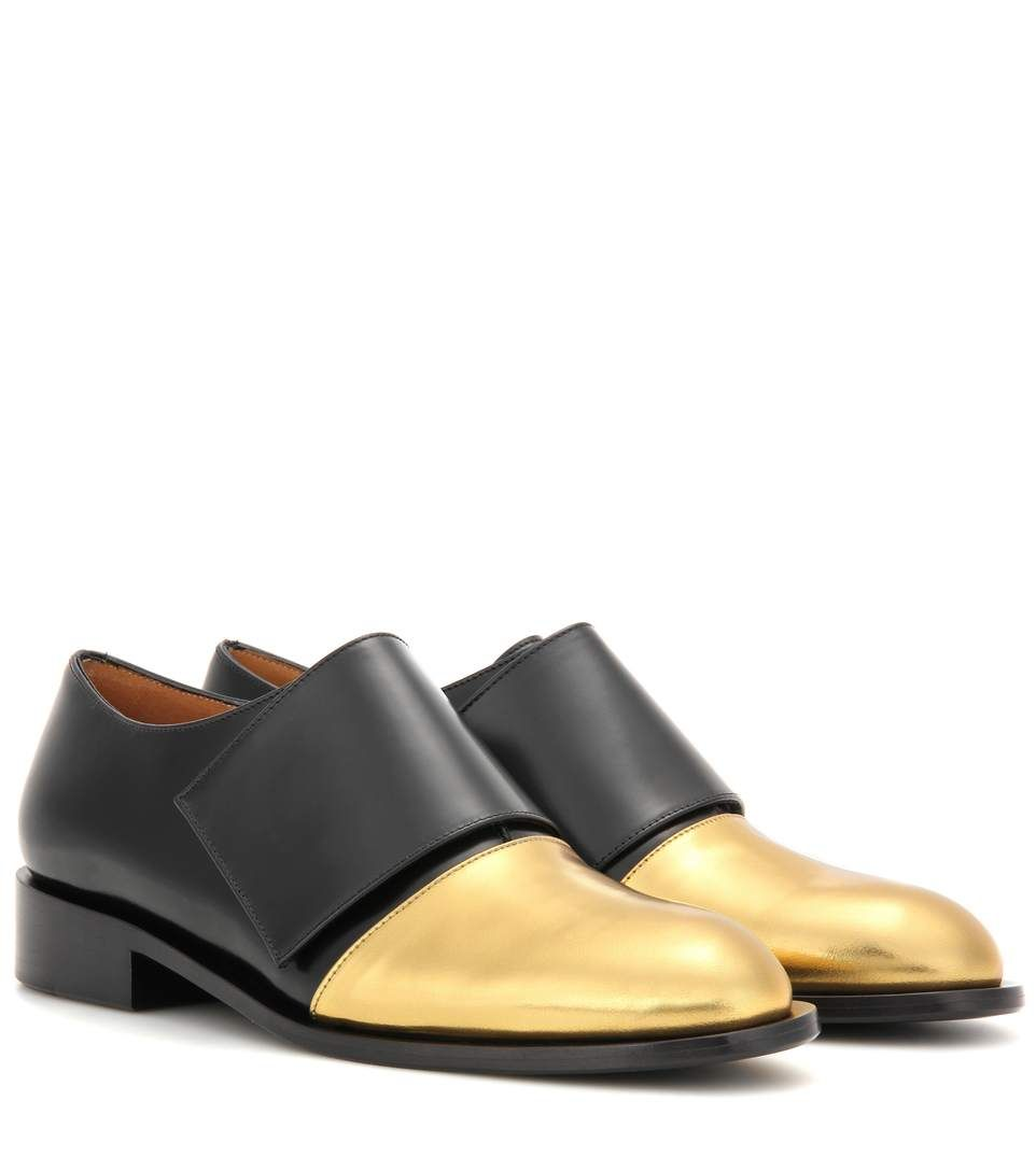 016db9a8 mytheresa.com - Metallic leather and leather monk shoes - Luxury Fashion  for Women /
