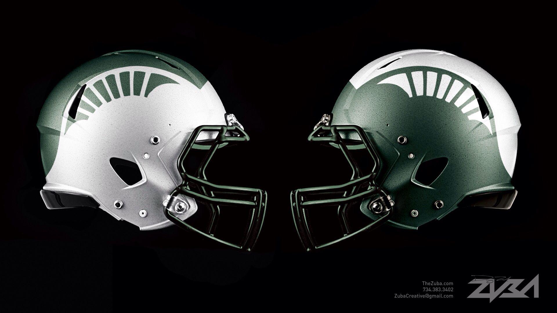 Porn Film Sports Gear msu football helmet concept | college football helmets
