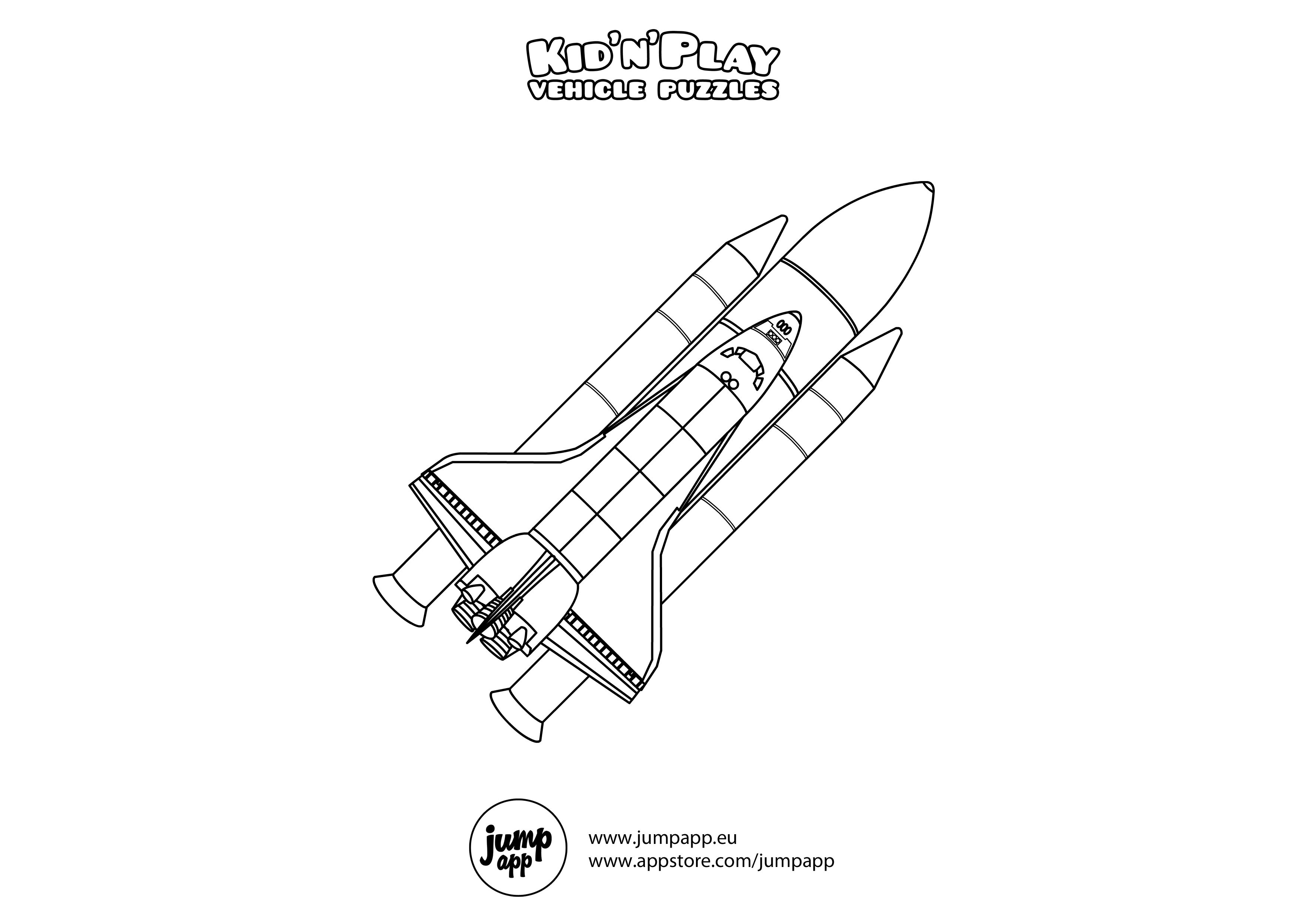 Coloring Pages Kids Space Shuttle Coloring Pages Print