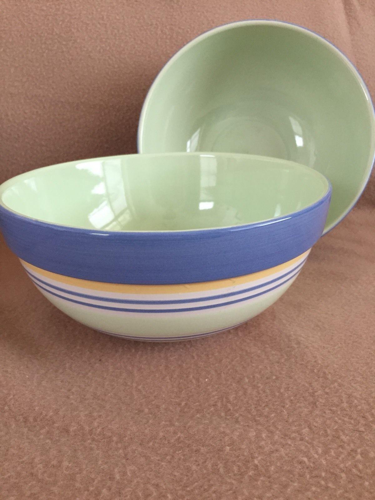 Set Of 2 PFALTZGRAFF SUMMER BREEZE 8 Quart Serving Bowls PERFECT