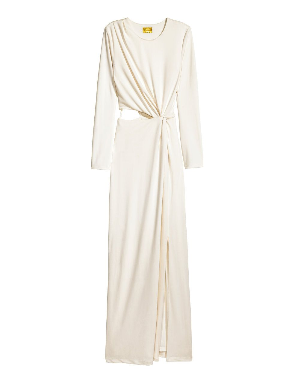 Check this out longsleeved maxi dress in thick jersey with draping