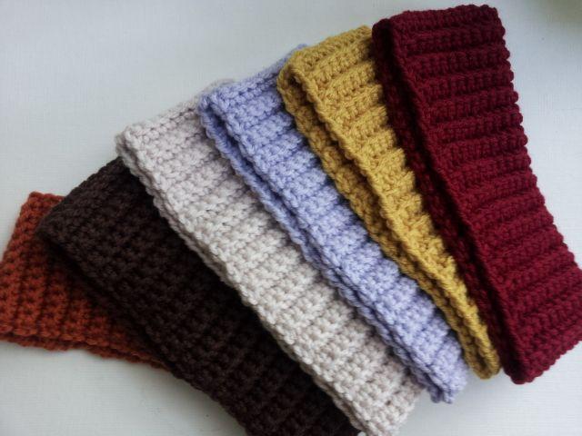 Ribbed Headband Knitting Pattern : Ribbed Crochet Headband: Free Pattern Crocheted headbands, Crochet headband...